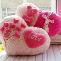 Wholesale Soft Gift for Valentine Day BirthdayPlush heart shaped hold pillow cartoon back cushion cm girl s gift
