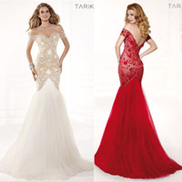 White Red Designer Lace Backless Cheap Mermaid Ball Gown 201...