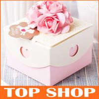 Wholesale Favor Holders European Personality Pink Wedding Gift Box Paper Wedding Boxes HQ0017