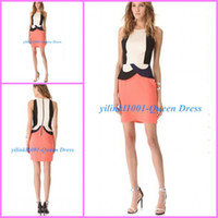 Cheap Reference Images Party Dresses Gowns2014 Best Short/Mini Ployester Sexy Sheath Party Dress