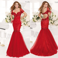 Short Sleeves Tulle Red Backless Cheap Ball Gown 2014 Formal...