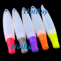 Wholesale Silicone Barbecue Tube Food Baking Chocolate Egg Liquid Oil Basting BBQ Kitchen Brush