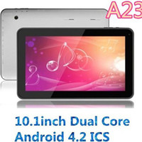 Wholesale New Tablet pc Inch A23 Tablet Dual Core Dual Camera Android G G x600p HD Screen WIFI Bluetooth Android Tablets PC