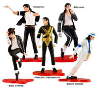 Fashion Figure   Michael Jackson PVC Action Figure MJ Collection Model Toy 12cm New in Retail Box 5pcs set retail