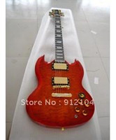 Solid Body 6 Strings Mahogany guitarfree shipping G-USA electric guitar gold wilkson button sg guitar+lp hard caseelectronic guitar