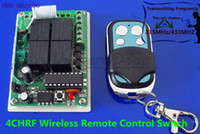 Cheap Free Shipping 4 Channel RF Wireless Remote Control Switch System 433MHz 315MHZ Latch