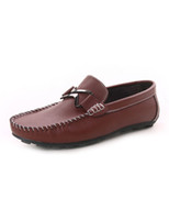 Wholesale Elegant Brown Cowhide Loafer Shoes For Men mens boat r74 u12 fr8
