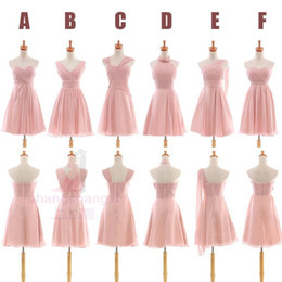 Elegant Party dress Different Style Chiffon Beaded A Line Bridesmaid Dresses Real sample summer style DL04234