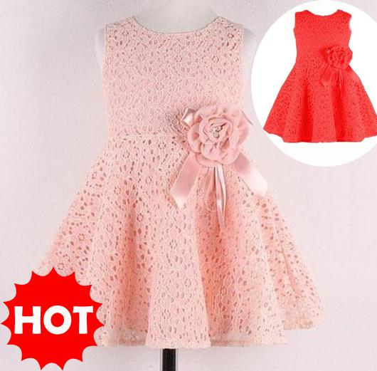 2017 Wholesale Girls Dresses Baby Girl Party Dresses Cute Baby ...