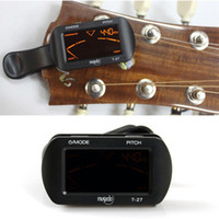 Wholesale LCD Clip on Electronic Digital Guitar Chromatic Bass Violin Ukulele C Ukulele D Tuner T