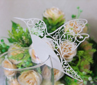 Wholesale 120pcs Humming Bird Wedding Name place cards Wine glass cards Table cards for Wedding Birthday