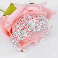 Wholesale Hot Sale Sterling silver Open Bangle Beauty silver jewerly Dozen