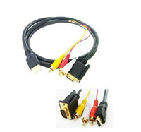 Wholesale HDMI HDTV to VGA RCA Converter Adapter Cable p