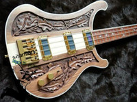 Wholesale New Arrival String Electric Bass Guitar Hand carved wooden Bass R8 South Korea chromium accessories guitars
