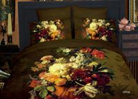 Children Twill 100% Cotton 2014 New Style!Queen Size Kids Adults Bedding Set 3d Flower Printed Bedding Linen Comforter Set