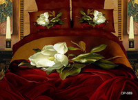 Adult Twill 100% Cotton 2014New Style!Queen Size Kids Adults Bedding Set 3d Flower Printed Bed Linen Comforter Sets