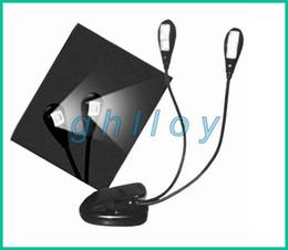 Clip livre de lumière à double bras 2 4 LED stand flexible pour ordinateur portable Lampe LED Light Book , Lire lumière 20pcs / lot à partir de à double lampe de lecture fournisseurs