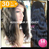 Wholesale 6A Brazilian human hair body wave Full lace wig color b A