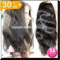 Wholesale full human hair half lace wigs brazilian body wave hair half lace wig pc A