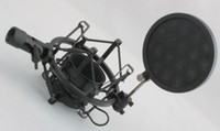 Wholesale new and professional Mini POP filter Metal shockmount for condense microphone and home stuido mic