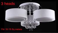 Wholesale 3 heads Max27W Modern Lights Living Room Crystal Ceiling Lamp LED Chandelier Pendant lights