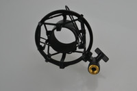 Wholesale 2015 new and professional Mini POP filter Metal shockmount for condense microphone and home stuido mic