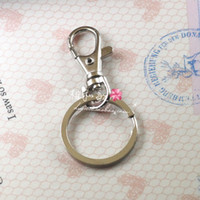 Key Chain Rings with Swivel Lobster Clasp