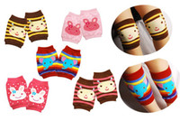 Wholesale Popular kids cotton protector leg accessories baby warm socks cartoon leg warmers crawling knee pads pairs