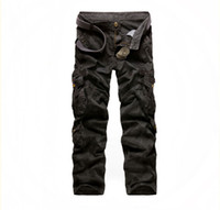 Wholesale Hot Sale Men s Stylish Multi pocket Camo Leisure Cargo Pants MF