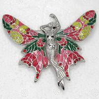 Men's angels c - C877 C Red Crystal Rhinestone Enameling Fairy Angel Butterfly Pin Brooch Jewelry