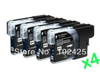 Wholesale 4 x Black Ink Cartridges for Brother LC980 LC1100 LC38 LC67 LC61 DCP C C