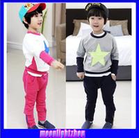 Wholesale clothing set baby boy baby products Printed cartoon boy pentacle suit jacket pants lhq c