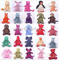 Wholesale 10 quot Jellycat stuffed animals dolls plush toys jelly cat Animal Doll cute and comfortable baby dolls toy inch styles to choose