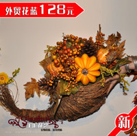 Wholesale Beautiful door gift accessories floral wall flower basket ball supplies