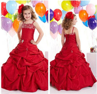 Best Beadings Taffeta Ruffled Party Time Flower Girl Dresses...