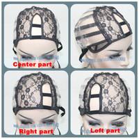Wholesale U Part Left Right Middle U part Wig Cap elect U Shape Lace Front Weft Back Lace Cap Sturdy Construction Straps hot selling