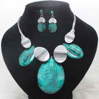 Bracelet,Earrings & Necklace Women's Party fashion brand blue high quality party jewelry sets hematite costume fancy necklace and earrings sets for women free shipping