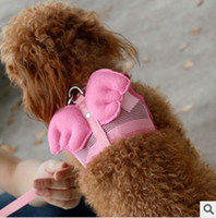 Wholesale Small Dog Leash Poodle Leash amp harness Pet Products Dog products Angle wing harness DHL