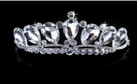 Tiaras&Crowns Rhinestone/Crystal  2014 High Quality Big Rhinestone Crystal Stunning Shinny Bridal Crowns Pageant Tiara Crown Tiaras & Hair Accessories