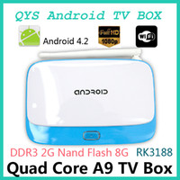 Dual Core Included 1080P (Full-HD) 5pcs XBMC T-R42 Bluetooth RK3188 Quad Core Android Mini PC CS918 Google Smart TV BOX 4.2 2GB DDR3 RAM 8GB WIFI Airplay DLNAr android tv
