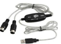 Wholesale USB to MIDI Cable Converter PC to Music Keyboard USB MIDI Interface Adapter
