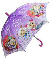 Wholesale Kids Umbrella Poleaxe e cartoon jubilance semi automatic children princess sun protection Child umbrellas