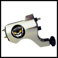 Wholesale Silver Skull Rotary Tattoo Machine Gun both for Shader Liner total have Colors to choose