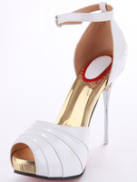 Wholesale White Sexy Peep Toe Cloth Shoes wedge r85 u7 K5A