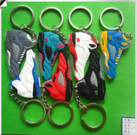 Stainless Steel shoe keychain - 2015 basketball shoes keychains Cheap Keychain ring Fan souvenirs sneakers keychain Anti Dust Plug Phone key chain pieces