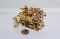 Metal small engine - The small oscillation cylinder steam engine with Steam boiler feed pump