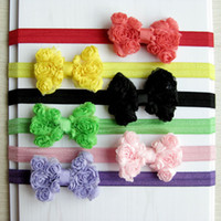 Headbands as shown Floral Hot sale in 2014 handmade children's hair accessories rose hairbands with flexible bands 12 colors in stock top quality DIY gift by yourself
