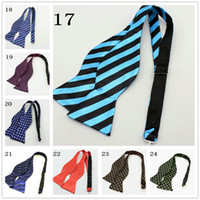 Wholesale Self tie bowtie men s bowties calabash stripe bow tie men bow ties freesyle bow tie marina