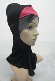 Wholesale H126 latest two color satin crossover ninja underscarf muslim hijab fast delivery mixed colors