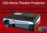 Wholesale Brand New p Projector Led TV D Full HD Projectors lumens portable home cinema projector